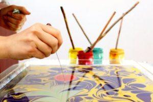 Шоу рисования на воде